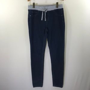 Justice Dark Wash Jean Leggings Size 14